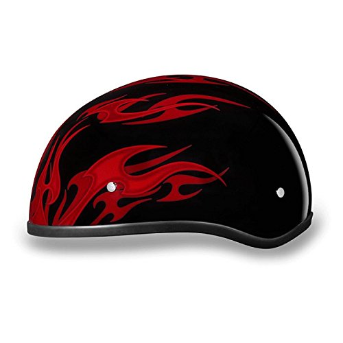 Motorcycle Helmet With Flames - 8