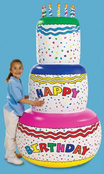 Happy Birthday Banner Inflatable - Giant 6 Foot Tall
