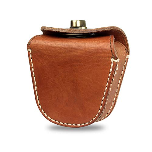 (Kosibate Ammo Pouch, Genuine Leather Ammo Bag for .22 22lr .38 .45 Hunting Vintage Belt Gun Ammo Carrier Pouch (Bronze) ...)