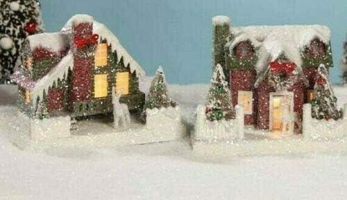 Bethany Lowe Christmas Putz House Set of 2 Vintage Decor