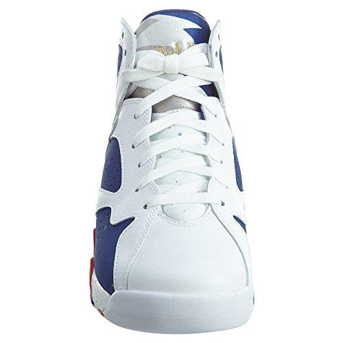 Nike Air Jordan 7 Retro Bg, Zapatillas de Baloncesto para Niños Blanco (Blanco (white/mtlc gold coin-deep royal blue))