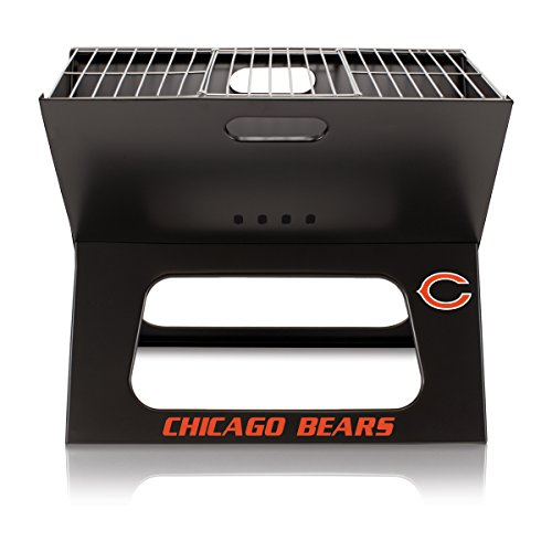 NFL Chicago Bears Portable Collapsible Charcoal X-Grill (Chicago Bears Tailgating Table)