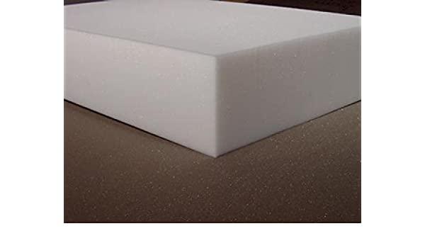 Corte de espuma para espalda placa de espuma de goma RG35 - 206 x 90 cm, poliuretano, blanco, 12 cm: Amazon.es: Hogar
