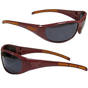 Purchadise NCAA 3-Dot Wrap Sunglasses-UVA and UVB Protection-Many Teams! (Virginia Tech Hokies)