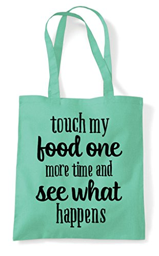 My Mint Tote Bag Food Touch Shopper Time One More Statement TfZdq