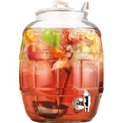 Home Essentials 2 Piece Barrel Beverage Dispenser - 2.75 Gallon Capacity