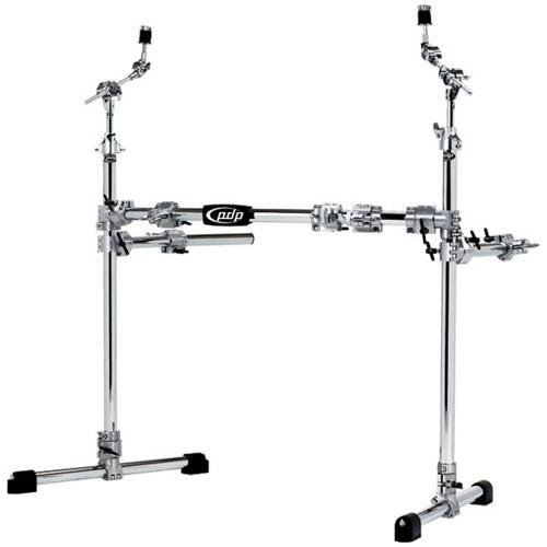 - Pacific Drums by DWChrome Over Steel Main Rack with 2 Side Wings