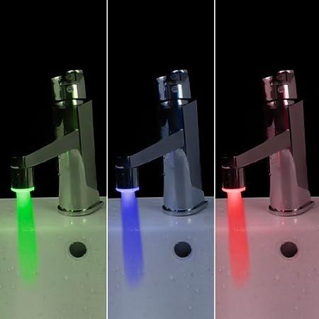 Anself Mini Pure Copper Glow LED Water Stream Faucet Tap ...