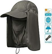 Aokelily Sun Hats Outdoor UPF 50+ Waterproof Sun Caps UV 360° Solar Protection Quick-Drying