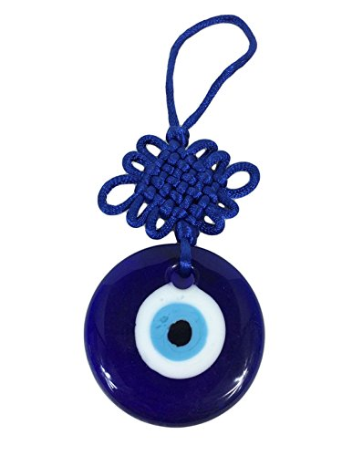Blue Evil Eye Mystic Knot Protection Glass Charm Amulet Turkish 2