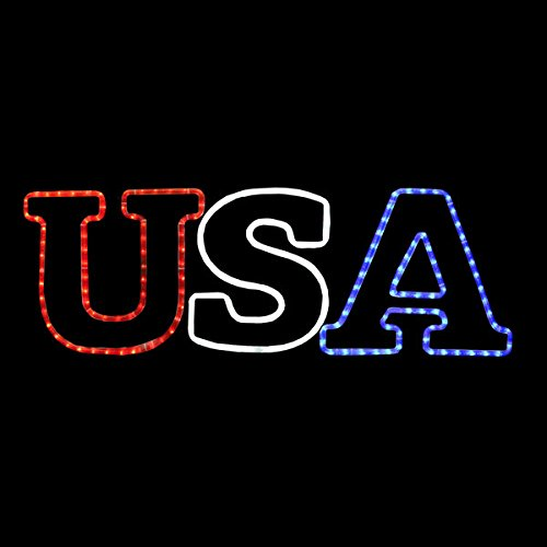 LED USA MOTION ROPE LIGHT MOTIF SILHOUETTE WINDOW DISPLAY by Action Lighting (Image #1)