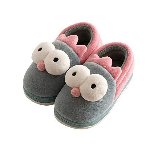 Kawaii Slipper Boot Boys Girls Fuzzy Velvet Memory Foam Indoor House Ankle Booties Toddler -