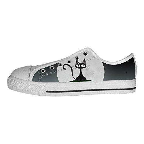 I Ginnastica Scarpe Da Tetto Custom Canvas Alto Del Delle Shoes Women's Gatto Lacci Fumetto zUP6zYq