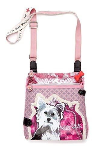FUZZYNATION Yorkie Crossbody Bag, Pink