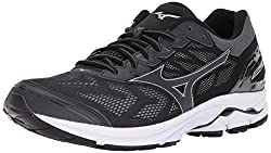 Mizuno Men's Wave Rider 21 Running Shoe, Black, 10 D Us
