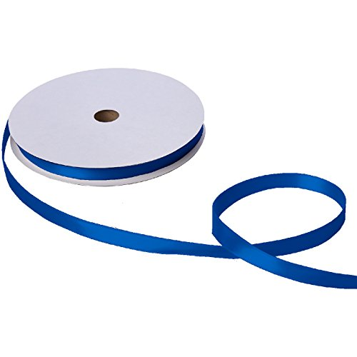 (Jillson Roberts Bulk 5/8-Inch Double Faced Satin Ribbon Available in 21 Colors, Royal Blue, 100 Yard Spool (BFR0916) )