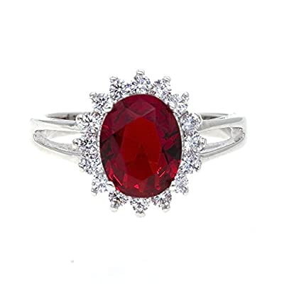 Oval Round Shaped CZ Rings Wedding Party Statement Engagement Inspired Cocktails For Woman Size 5 - 10