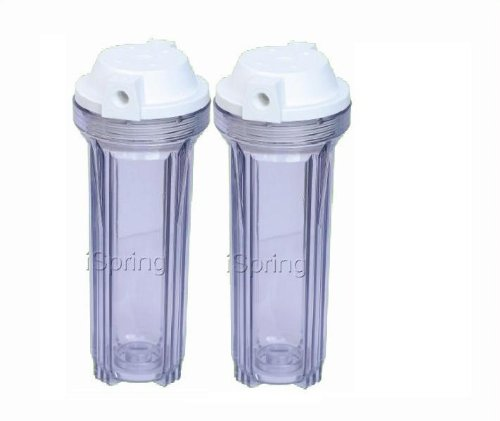 iSpring HC12X2 Transparent Water Filter Housings RO/Aquarium 10Inch, 2-Pack, clear ()