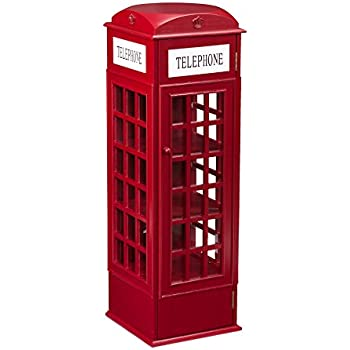 Amazon.com: Southern Enterprises Phone Booth Storage Cabinet in ...