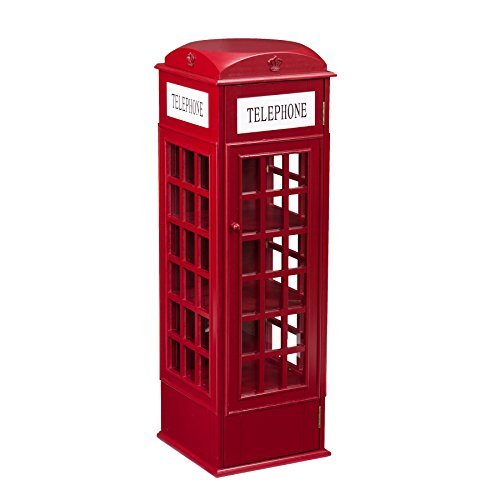 Southern Enterprises Phone Booth Storage Cabinet in Red by Southern Enterprises