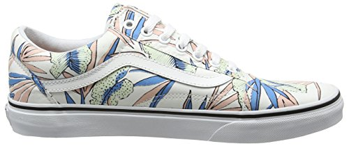 Vans UA Old Skool, Zapatillas Para Mujer Multicolor (Tropical Leaves True White)