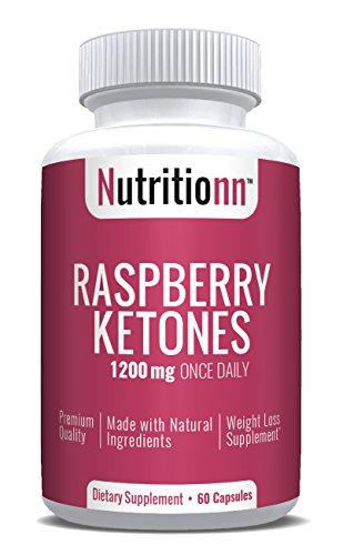 Raspberry Ketones 1200 mg by Nutritionn - Premium Natural Weight Loss Supplement - 100% Pure Raspberry Ketones