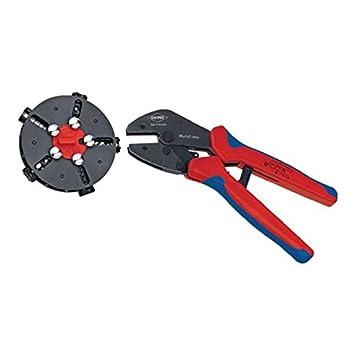 Knipex - Crimpzange mit Wechselmagazin Steckverbinder - Kabelschuhe - AderendhÜlsen - Stossverbinder 0.5...6.0 mm² mm