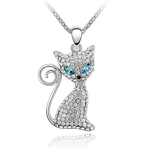 df-sapphire-blue-and-clear-crystals-cat-charm-pendant-necklace-fashion-jewelry-elegant-and-eye-catch