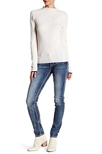 Rock Revival Womens Betty ES406 Rhinestone Skinny Leg Jeans Denim