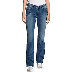 Eddie Bauer Women's StayShape Boot Cut Jeans - Curvy, Indigo Blue Regular 18 Reg