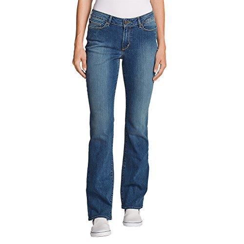 Eddie Bauer Women's StayShape Boot Cut Jeans - Curvy, Indigo Blue Petite 16 Peti by Eddie Bauer