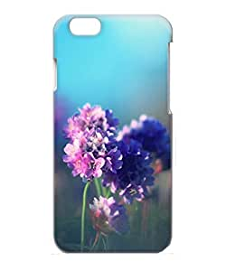 VUTTOO Iphone 6 Plus Case, Purple Field Flower PC Case for Apple Iphone 6 Plus 5.5 Inch