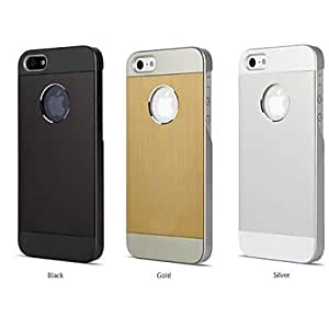 TOPMM Stitching Color Design Metal and Polycarbonate for iPhone 5/5s(Assorted Colors) , Silver