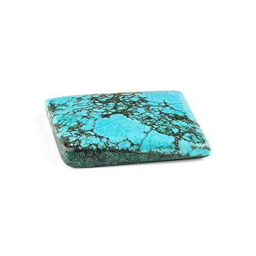 Jaguar Gems Natural Tibetan Turquoise Stone, Gemstones and Crystal, Jewelry Making Supply, Loose Gemstone, Chakra Healing Crystal, December Birthstone, 60+ Carats