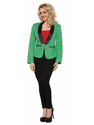 Forum Novelties Women's Candy Cane Blazer Suit Jacket