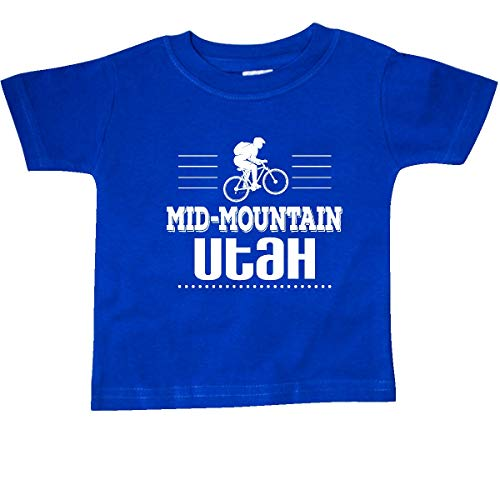 inktastic Mid Mountain Utah Mountain Biking Baby T-Shirt 12 Months Royal Blue