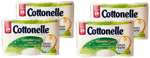 (Cottonelle Gentle Care Toilet Paper with Aloe and E, Double Roll, 12 Count (Pack of 4))