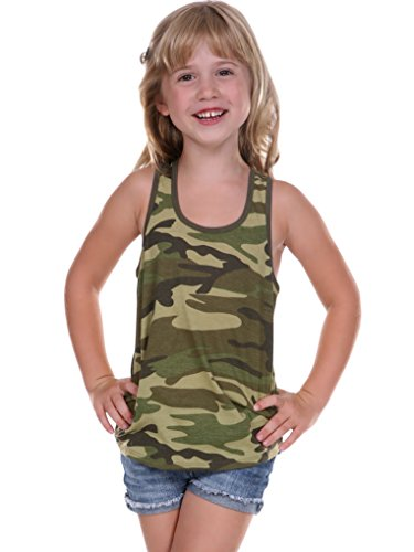 Kavio! Little Girls 3-6X Camouflage Racer Back Tank Camo Army Green 5/6