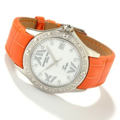 Raymond Weil Women's Tango Diamond Swiss Made Leather Strap Watch