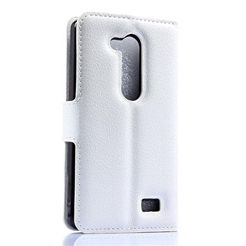LG L Fino Funda, LG D295 Funda, Lifeturt [ mariposa negro ] Cubierta de la caja de cuero superior de la carpeta del libro para LG L Fino/D295 E02-33 Púrpura-Diamond