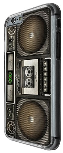975 - Cool fun boombox vintage retro music speakers dj cassette player tape Design For iphone 6 Plus / iphone 6 Plus S 5.5'' Fashion Trend CASE Back COVER Plastic&Thin Metal -Clear