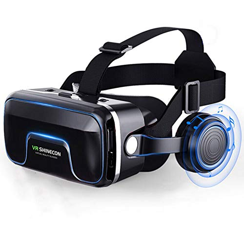 GYAM VR Headsets, Removable Panel 3D Glasses, Virtual Reality Headsets with Built-In Headphones with 120 Degree Viewing…