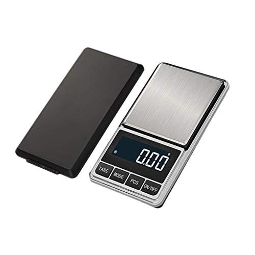 Kiorc 0.1 Gram Precision Jewelry Electronic Digital Balance Weight Pocket Scale 1000g Black