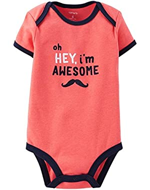 Baby Boys' Slogan Bodysuit (Baby)