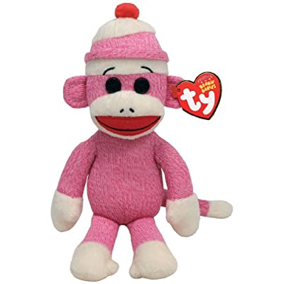 Ty Beanie Babies Socks The Monkey (Pink): Toys & Games