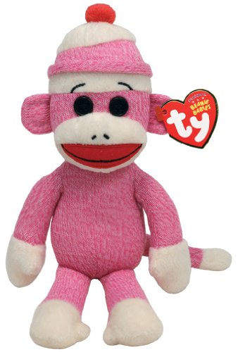 Ty Beanie Babies Socks The Monkey (Pink)