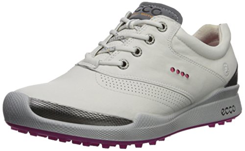 ECCO Women's Biom Hybrid Golf Shoe, White/Candy, 41 M EU (10-10.5 US)