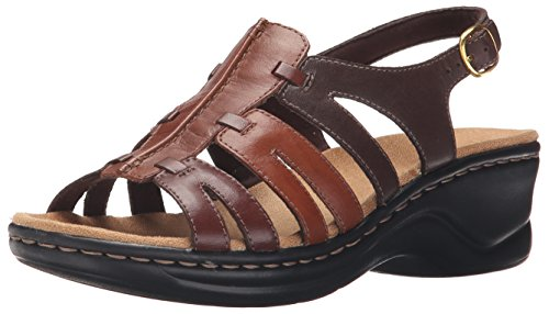 CLARKS Women's Lexi Marigold Q, Brown Multi Leather, 6 B-Medium -