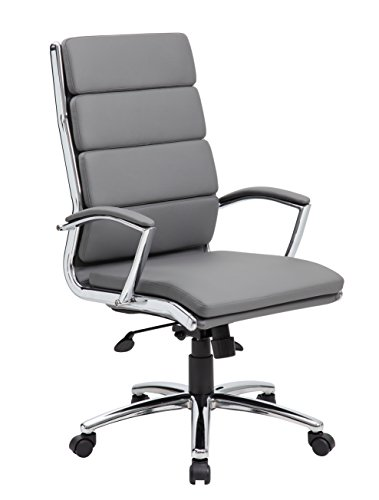 Boss Office Products CaressoftPlus Executive Chair, Grey