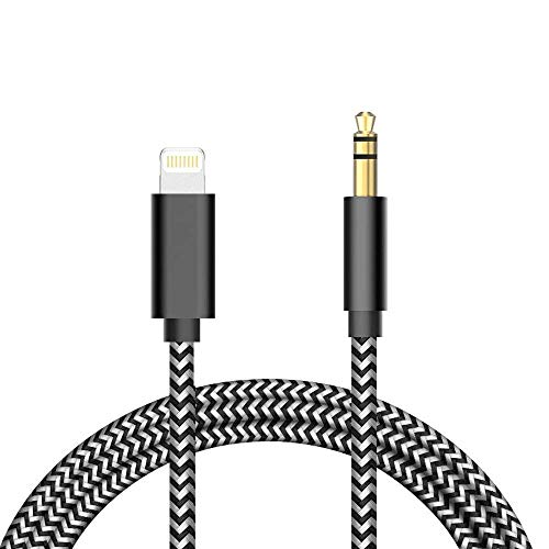 INGOUE Aux Cord for Phone,3.5mm Aux Cable for Phone XS/XR/X /8/7/6 to Car Stereo or Speaker or Headphone Adapter, Support The Newest iOS 12 Version or Above (Black)